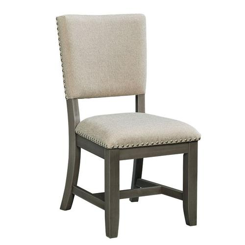 Standard Furniture - Omaha 2-Pack Upholstered Side Chairs with Grey Legs
