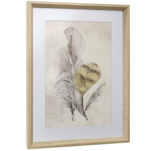 Style Craft - FEATHER FLIGHT II  17in w X 23in ht  Framed Print Under Glass with Matte