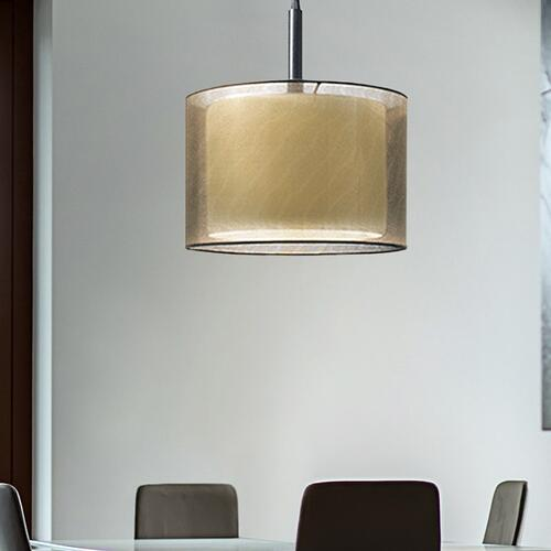 "Sonneman - A Way of Light - Puri Pendant [Size=22"", Color/Finish=Satin Nickel w/Silver Shade]"