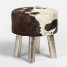 Brooks Small Leather Ottoman Product Image