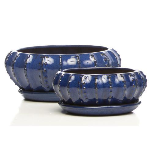 Tureen Bowls w/ saucers, Blue S/2 2set/ctn