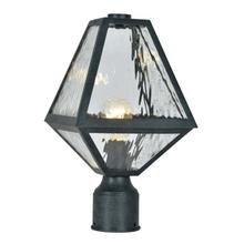 See Details - Brian Patrick Flynn for Crystorama Glacier 1 Light Black Charcoal Small Post