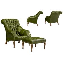 Buchanan Chair & Buchanan Ottoman (Greenbrier Lifestyle Collection)
