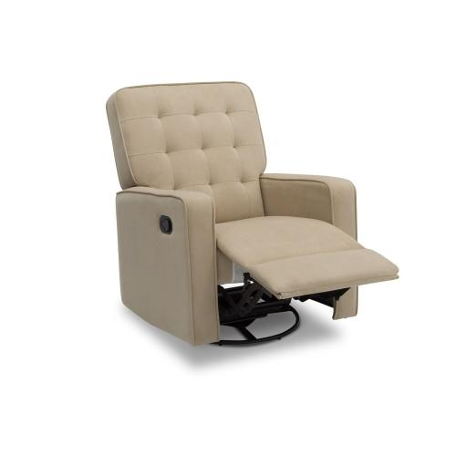 Garrison Nursery Glider Swivel Recliner Featuring LiveSmart Fabric by Culp - Sisal (727)