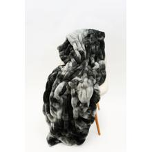 """See Details - Nuevo Tie-Dye Charcoal Throw by Rug Factory Plus - 50"""" x 60"""" / Tie-Dye Charcoal"""