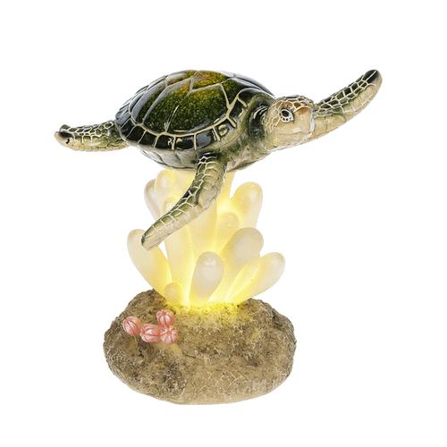 LED Light Up Turtle on Coral