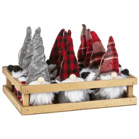 Stuffed Gnome Ornaments in Crate (12 pc. ppk.)