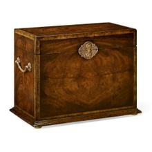 Tall Square Crotch Mahogany Jewellery Box