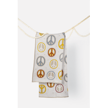 Peace Sign Knit Throw