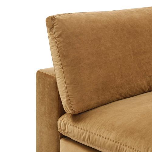 Modway - Commix Down Filled Overstuffed Performance Velvet Armless Chair in Cognac
