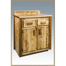 Homestead Bathroom Vanity - Stained and Lacquered