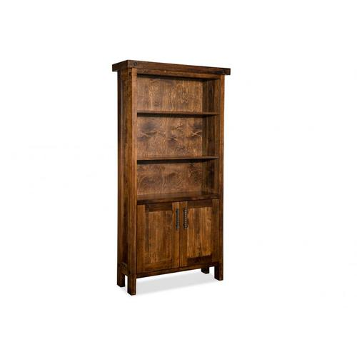 Handstone - Rafters Open Bookcase w/3 Adjustable Shelves w/Doors