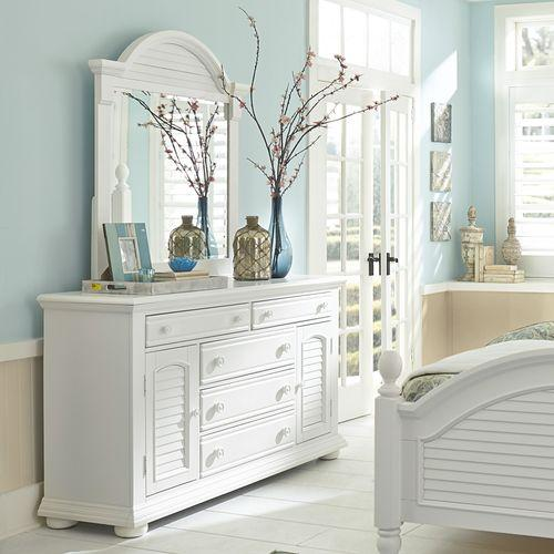 Product Image - King Panel Bed, Dresser & Mirror, Chest