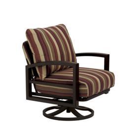 Lakeside Cushion Swivel Action Lounge Chair