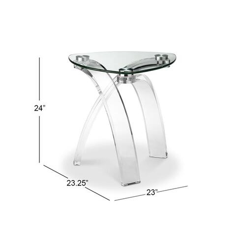 Pie Shaped End Table