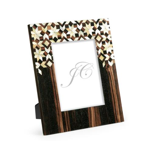 8x10 Portrait Macassar Ebony & Mother of Pearl Mosaic Picture Frame