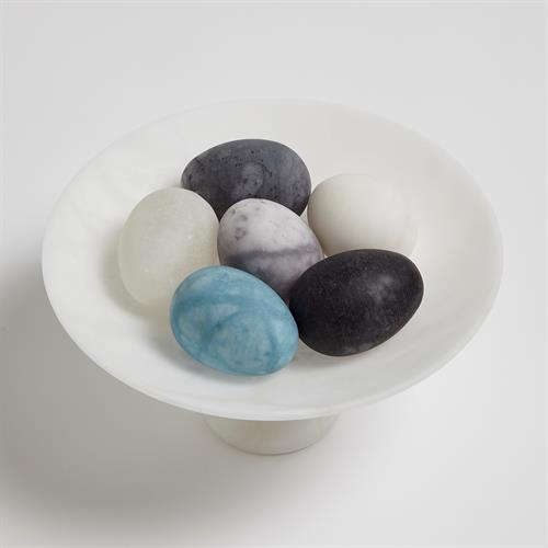 S/6 Assorted Alabaster Eggs