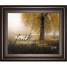 """""""Faith Is"""" By Marla Rae Framed Print Wall Art"""