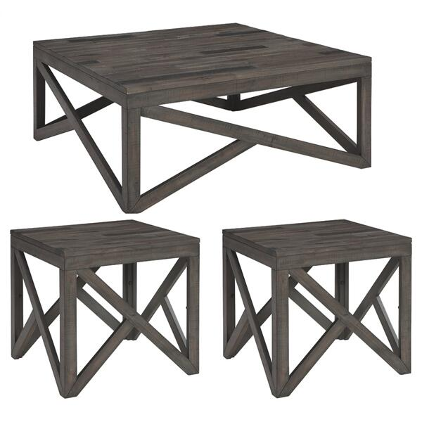 See Details - Coffee Table With 2 End Tables