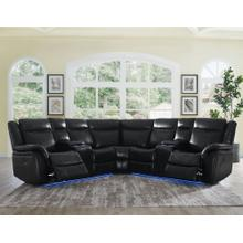 Levin Black 3-Piece Power Reclining Sectional