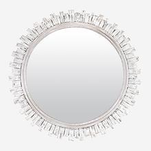 "35"" Round Malta Mirror - White"