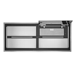 Cirrus Grande 63 inch Brushed Stainless Steel Ceiling Mounted Range Hood with External Blower and LED Light