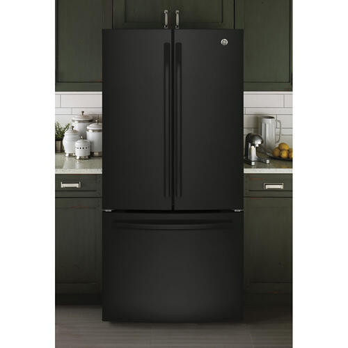 GE 18.6 Cu. Ft. Counter-Depth French-Door Refrigerator Black - GWE19JGLBB