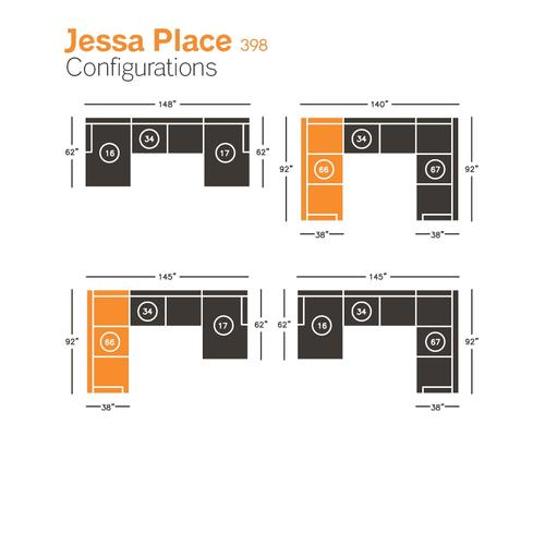 Jessa Place Left-arm Facing Sofa