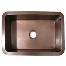 """See Details - Copperhaus 30"""" Rectangular Undermount Sink with a Smooth Texture and 3 1/2"""" Center Drain - Smooth Bronze"""