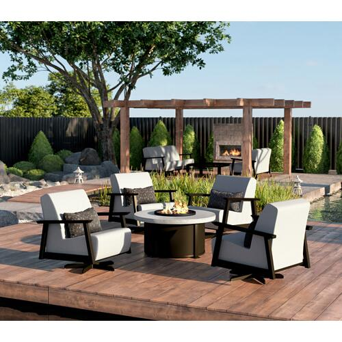 """32"""" x 52"""" Rectangular Coffee Fire Pit Ht: 19"""" Aurora Aluminum Base (Indicate Top/Frame Color)"""