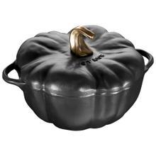 Staub Cast Iron 3.75-qt pumpkin Cocotte, Black Matte