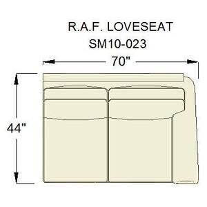 Living Room Sage RAF Loveseat