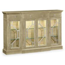 Opera 4-door breakfront display cabinet with stainless steel