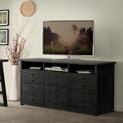 Perspectives - Entertainment File Cabinet - Ebonized Acacia Finish Product Image