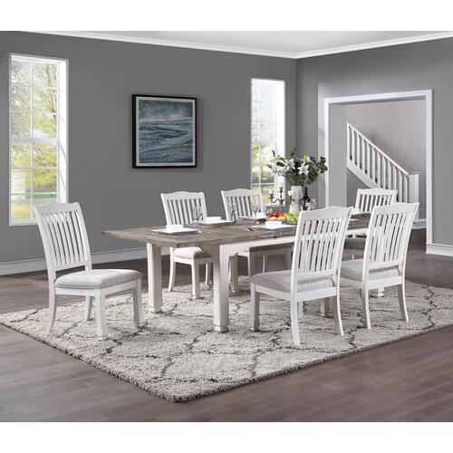 Centerville Butterfly Leaf Dining Table, Acorn Gray & Antique White D727-10-09