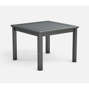 "28"" Square End Table (no Hole) Ht: 21"" Post Aluminum Base (Frame Finish: Carbon)"