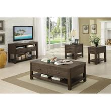 View Product - Promenade - Rectangular Side Table - Warm Cocoa Finish