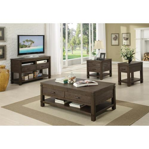 Promenade - Rectangular Side Table - Warm Cocoa Finish