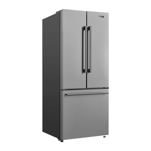 Galanz 16 Cu Ft 3 Door French Door Refrigerator with Ice Maker in Stainless Steel