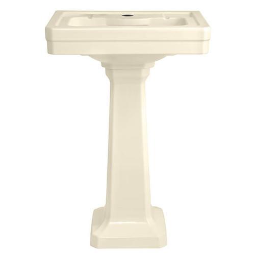 Dxv - Fitzgerald 24 Inch Pedestal Bathroom Sink- Single Faucet Hole - Biscuit