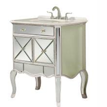 2 doors vanity cabinet 30 in. x 21 in. x 36 in. in Silver Leaf