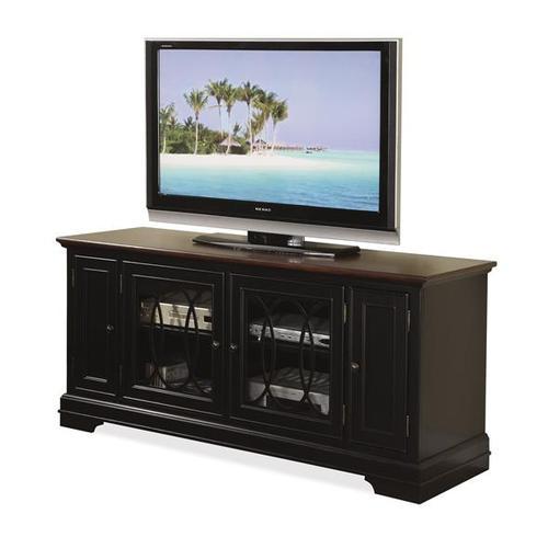 "Anelli II 60"" TV Console Vintage Cherry/Bridgewood Black finish"