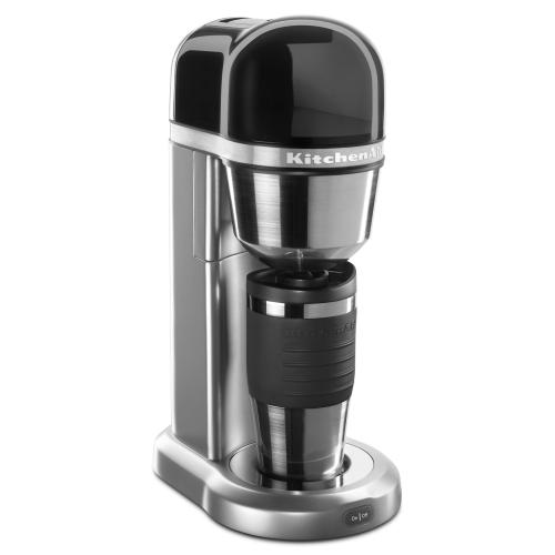 Gallery - Personal Coffee Maker with 18 oz Thermal Mug - Contour Silver