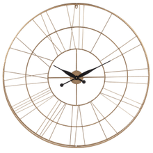 Gold Roman Numeral Wall Clock