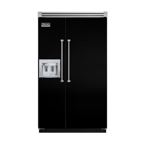 "Viking - Black 48"" Quiet Cool™ Side-by-Side with dispenser - VISB Tru-Flush™ (48"" wide)"