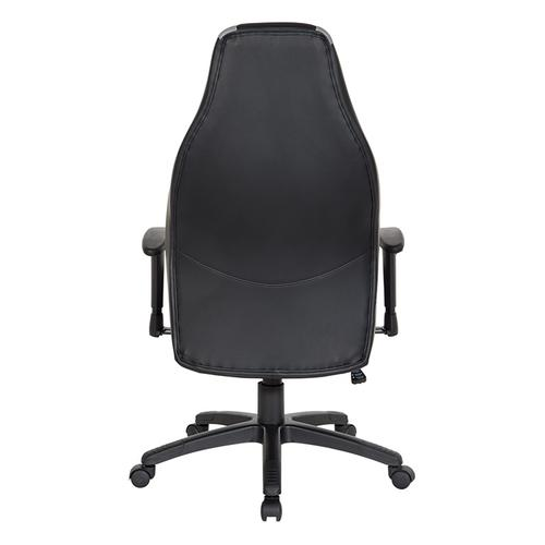 Commander Gaming Chair In Grey Faux Leather