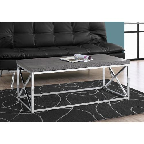 Gallery - COFFEE TABLE - GREY WITH CHROME METAL
