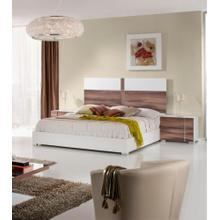 Nova Domus Giovanna Italian Modern White & Cherry Bed