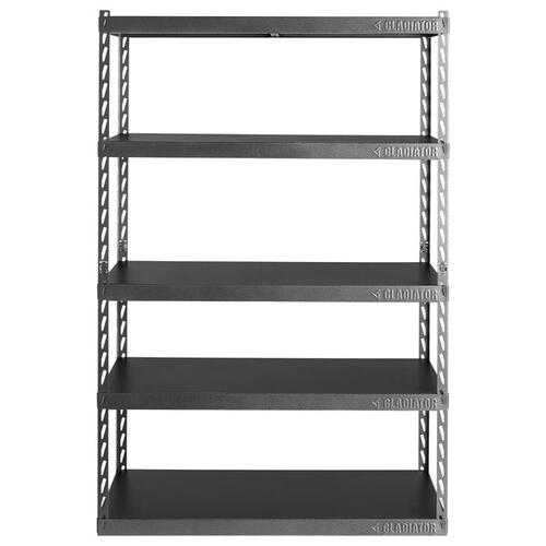 """Gladiator - 48"""" Wide EZ Connect Rack with Five 24"""" Deep Shelves"""