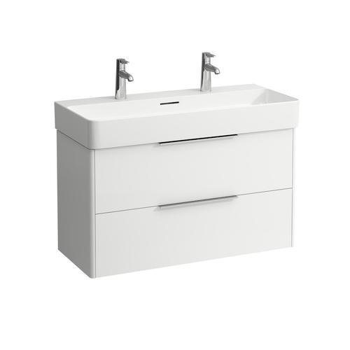 Traffic Grey Vanity unit, 2 drawers, incl. drawer organizer, matching washbasin 810287